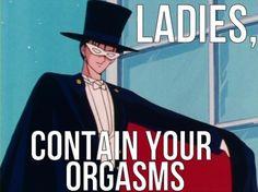 LMAO! I love Sailor Moon. Tuxedo Mask was cool but I liked Seiya better!