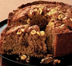 Cinnamon Nutella cake - notes: up Nutella, warm and swirl through batter. Sandwich with Nutella and crushed hazelnuts / top with ganache and hazelnuts Cake Recipes Bbc, Bbc Good Food Recipes, Sweet Recipes, Dessert Recipes, Yummy Food, Drink Recipes, Cupcakes, Cupcake Cakes, Sweetcorn Bake