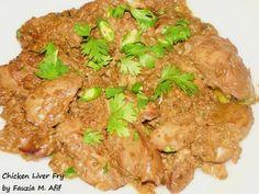 Chicken Liver Fry   Fauzia's Kitchen Fun