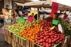 Fresh fruit for sale on every corner. El Centro Mazatlan.