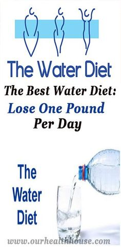 The Best Water Diet: Lose One Pound Per Day