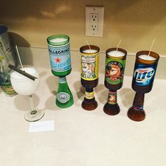 I just attached the bases on these #beer #bottle #candles and #wine #glass #candle for my #etsy #customers. I still have to do a second #pour before I can ship them out tomorrow. #winewednesday #winewednesdays #etsylife #etsyseller #etsygifts #etsysellersofinstagram #beersofinstagram #sweetwater #ipa #millerlite #millertime #shocktop