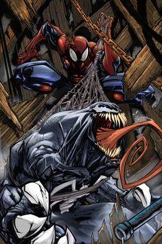Venom vs Spider-Man - Art: Gerardo Sandoval / Inks: Carlos Cuevas / Color: Gabriel Sandoval