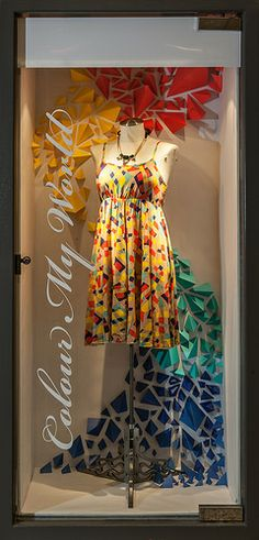 Spring Window Display 2014. Visual Merchandising Arts at Seneca College's School of Fashion.
