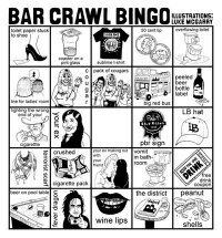 Bar Crawl Bingo