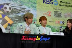 [PIC] 140606 Music Bank in Brazil PressCon - #인피니트 Sunggyu and Hoya by sarangingayo pic.twitter.com/XOGeBjUkTm