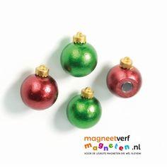 Kerstbalmagneten, leuk voor de feestdagen! Voorzien van sterke neodymium magneet.