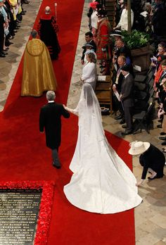 Royal Wedding 2-  Kate's father walks her down the aisle at St Paul's catherdral as a couple million people look on!