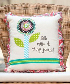 Loving this 'All Things Possible' Throw Pillow on #zulily! #zulilyfinds