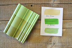 Chalk Paint® mix of 3 parts Cream & 1 part Antibes with clear wax, tinted wax, and dark wax. Follow Green Table Gifts on Facebook for Mixology Monday! #chalkpaint #colormix #green