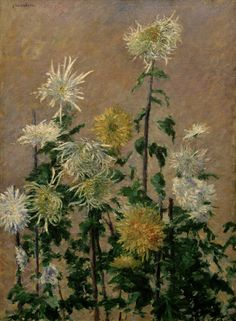gustave caillebotte paintings | Image: Gustave Caillebotte - White and Yellow Chrys.