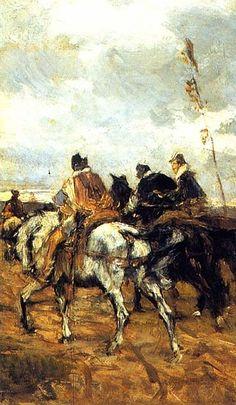 Horses and Knights, Giovanni Boldini