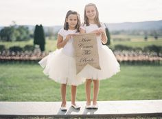 Here comes the bride: http://www.stylemepretty.com/vault/search/images/wedding%20signs