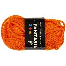Fantasia Akrylgarn, L: 35 m, neon orange, Maxi, 50 g