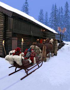 sleigh ride in Norway On my bucket list!! A sleigh ride!!❤️