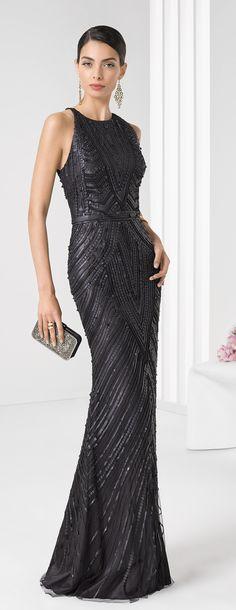 Rosa Clará 2016 Cocktail Collection - this glamorous dress has Art Deco patterns Gala Dresses, Short Dresses, Formal Dresses, Dresses 2016, Elegant Dresses, Pretty Dresses, Lace Dress, Dress Up, Mode Boho
