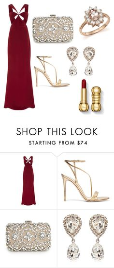 """Red carpet <3 (*) 💍💄👗👜🌌"" by sandra-boguslawska ❤ liked on Polyvore featuring Cushnie Et Ochs, Gianvito Rossi, MANGO, Dolce&Gabbana and Bloomingdale's"