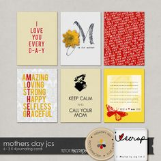 Free Mothers Day Journal Cards from i♥scrap {store checkout required}
