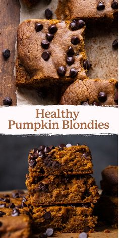 Learn how to make pumpkin blondies with oat flour! These super chewy pumpkin bars are the perfect fall dessert that everyone will love. Each bite is studded with dark chocolate chips and they are gluten-free and dairy-free friendly! | asimplepalate.com Apple Recipes, Pumpkin Recipes, Baking Recipes, Fall Dessert Recipes, Fall Desserts, Healthy Pumpkin Bars, Oat Flour Recipes, Sugar Pumpkin, Kinds Of Desserts