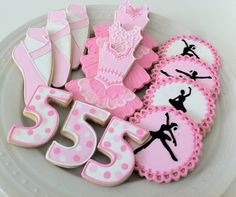 Pink Ballerina Themed Decorated Cookies for your by peapodscookies, $48.00