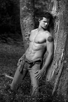 Taylor Lautner...because it takes a pack like those to make me break the 'no shirtless men on the man wall' clause. TYVM.