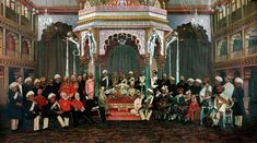 Maharaja Krishna Raja Wodeyar IV of Mysore, seated beside his new princess at their wedding in 1900 Hyder Ali, Mysore Painting, Mysore Palace, Royal Indian, Throne Room, World History, Old Pictures, Deities, Krishna