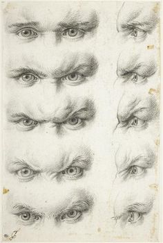 Charles Le Brun | Etudes d'yeux humains | Images d'Art