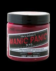 Manic Panic Hot Hot Pink Hair Color Cream What Tess uses ; Hair Color Cream, Hair Color Pink, Hot Pink Hair, Makeup Supplies, Manic Panic, Beauty Supply, Headband Hairstyles, Hair Clips, Headbands