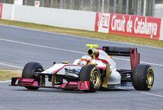 Fórmula 1: El F112 de HRT cubre sus primeros kilómetros en Montmeló