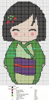 grilles point de croix et cie: Deux nouvelles princesses en grilles Kokoeshi
