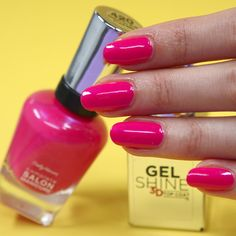 We like the kind of shine you can see yourself in ;) Gloss up your mani by topping Complete Salon Manicure with Gel Shine. Sally Nails, Hot Pink Nails, Manicure, Nail Polishes, Gelato, Salons, Nail Art, Beauty, 3d