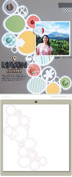 #papercraft #scrapbook #layout    Free 'Wonky Circles' Silhouette studio cutting file {by Geralyn for Studio Calico} http://inacreativebubble.blogspot.ca/2013/01/studio-calico-winter-cha-2013.html