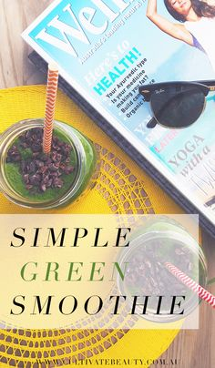 We love a good green smoothie! Today we thought we'd share a simple, everyday green smoothie that's great for cooling down and amping up the day's antioxidants.