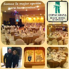 Cop@News informa: Somos la mejor opción para tus eventos sociales! Banquetes hasta para 600 personas contáctanos asistgerencia_aca@hotelcopacabana.com