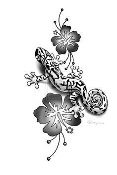 tatto art   gecko tattoo bw by lauzon designs interfaces tattoo design tattoo ...
