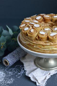 Gâteau de Crêpes Façon « Paris-Brest » à la crème mousseline praliné