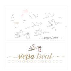 newborn logo design | stork logo design