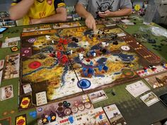 Scythe | The is a gorgeous board; looks great with five players.