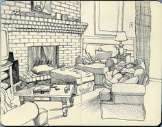 Linda reclining in my parents' living room by Paul Heaston