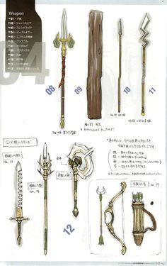 animationtidbits:  Fire Emblem: Awakening - Weapons Concept Art
