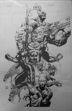 Unpublished Q-Unit Comic Book Cover by David Finch