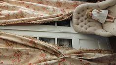 Stunning fench curtains! Less the creepy doll of course...