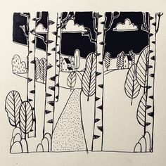 #inktober #inktober2017 #inktoberday22 #trail #ink #tintaplastyczna #ink #landscape #illustration #drawing #doodle