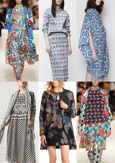 Resort 2015   Catwalk Print & Pattern Trend Highlights Part 2 catwalks Tiled Pattern – Moroccan Inspired – Tessellating Geometrics – Irregular Layouts – Angular Shapes – Mosaic Floor Patterns – Broken Tiled Pattern – Border Layouts