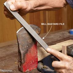 Sharpening Knives, Scissors and Tools is part of Knife - 13 expert sharpening tips and tools to make the job easier no more dull DIY and garden tools! Wood Tools, Diy Tools, Sharpening Tools, Knives And Tools, Knife Making, Making Tools, Power Tools, Blacksmithing, Scissors