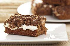 Marshmallowbrownies met karamel