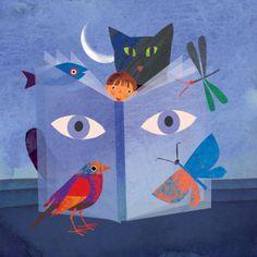 La naturaleza en los libros (ilustración de Giulia Orecchia)