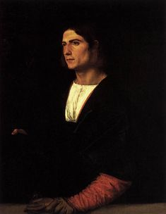 1515 - Young Man with Cap and Gloves - Titian