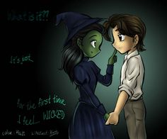 """""""For the first time, I feel.... wicked."""" Elphaba and Fiyero <3"""