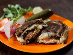 Sandwich Night: The Sliced Chicken and Mushroom Rachael recipe from Rachael Ray via Food Network